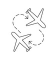 airplane transfer line icon vector image vector image