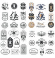 Big set of vintage tailor badges stickers