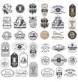 big set vintage tailor badges stickers vector image