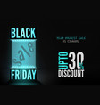 black friday 30 percent discount offer vector image vector image