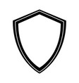 black icon shield cartoon vector image