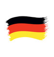 brushstroke painted flag germany vector image vector image