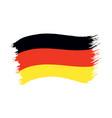 brushstroke painted flag germany vector image