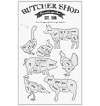Butcher Shop Board vector image vector image