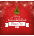 card merry christmas new year with banner graphic vector image