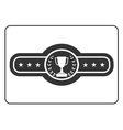 Champion belt icon Award vector image