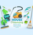 cleaning service house and apartments washing vector image vector image