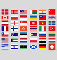 collection flags world vector image