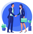 completed deal with a handshake vector image