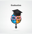 creative brain graduation concept vector image