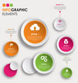 creative infographics designs vector image