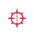 crosshair icon on white vector image vector image