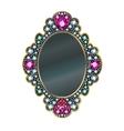 Diamond Mirror Frame vector image