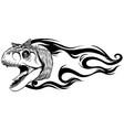 dinosaurus carnosaur head art vector image vector image