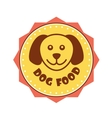 Dog Food label vector image