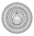 Doodle water drop on tribal mandala vector image