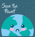 earth hour cartoon vector image vector image