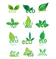 Eco green icons set vector image vector image