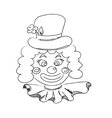 Hand drawn clown vector image