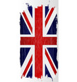 hanging grunge union jack vector image vector image
