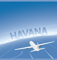 havana flight destination vector image