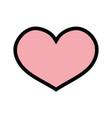 heart symbol of love icon design vector image vector image