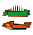 Kwanzaa Ribbon 2 Colorful Banners Set vector image vector image