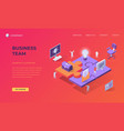 landing page for business team vector image