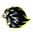 lion roaring head logo vector image vector image