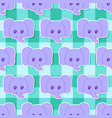 little elephant pattern vector image