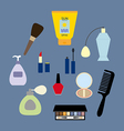 Make up icons set vector image vector image