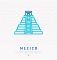 mayan pyramid thin line icon vector image