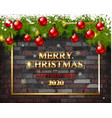 merry christmas and happy new year 2020 vector image vector image