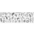 natural leaves pattern doodle set vector image