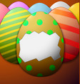 painted easter eggs without the shell in the vector image