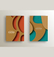 paper cut abstract background template set vector image