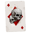Poker card with skulls vector image vector image