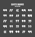 quotation marks collection white quotes vector image