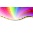 rainbow abstract pattern vector image vector image