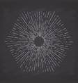 retro sun bursts vintage radiant sun rays shape vector image vector image