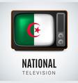round glossy icon of algeria vector image vector image