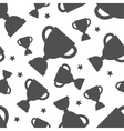 Seamless pattern with winners cup vector image