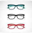 set eye glasses icons isolated on white vector image