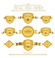 Set luxury labels and ribbons vector image vector image