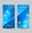 set of banners with polygonal background vector image vector image