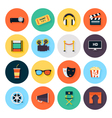 Set of movie design elements and cinema icons vector image