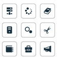 set of simple design icons vector image vector image