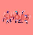 shoes concept sportsmen and sportswomen training vector image
