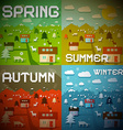 Spring Summer Autumn Winter - Four Seasons vector image vector image