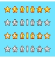 star gold silver rotation set sprite game vector image